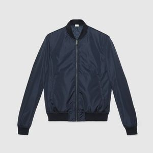Gucci Jackets & Coats - Gucci bombar jacket reversible blue color